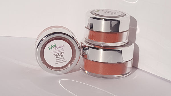 natural highly pigmented blush for cheek tint red