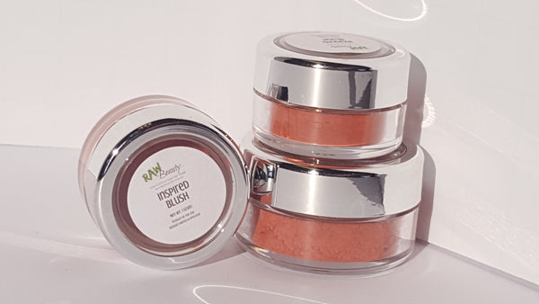 deep pink natural blush vegan highly pigmented blush powder