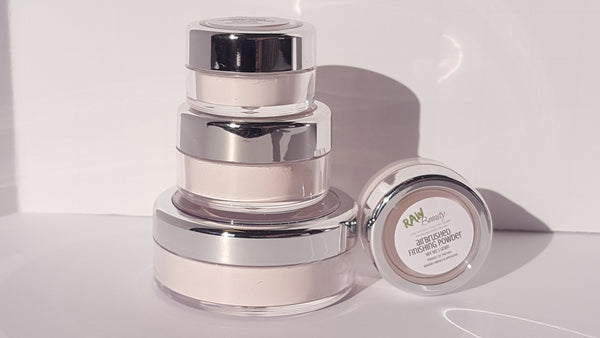100% pure finishing powder airbrushed makeup look