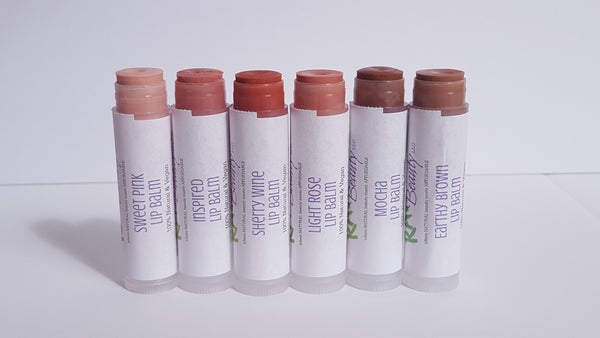 natural tinted lip balm 100% pure minerals tinted lip balm vegan lip chap