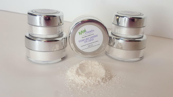 white shimmer eye shadow, white natural eye makeup highlighter magic fairy dust