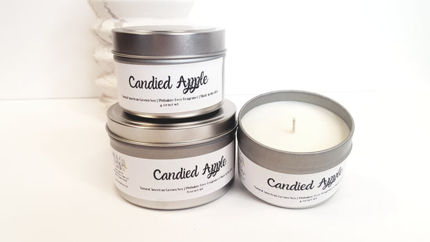 Candied Apples Natural Soy Candle | Hand-Poured and Hand-crafted 1