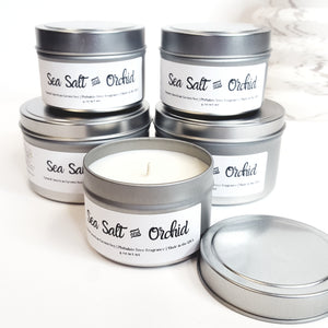 Sea Salt and Orchid Natural Soy Candle | Hand-Poured and Hand-crafted