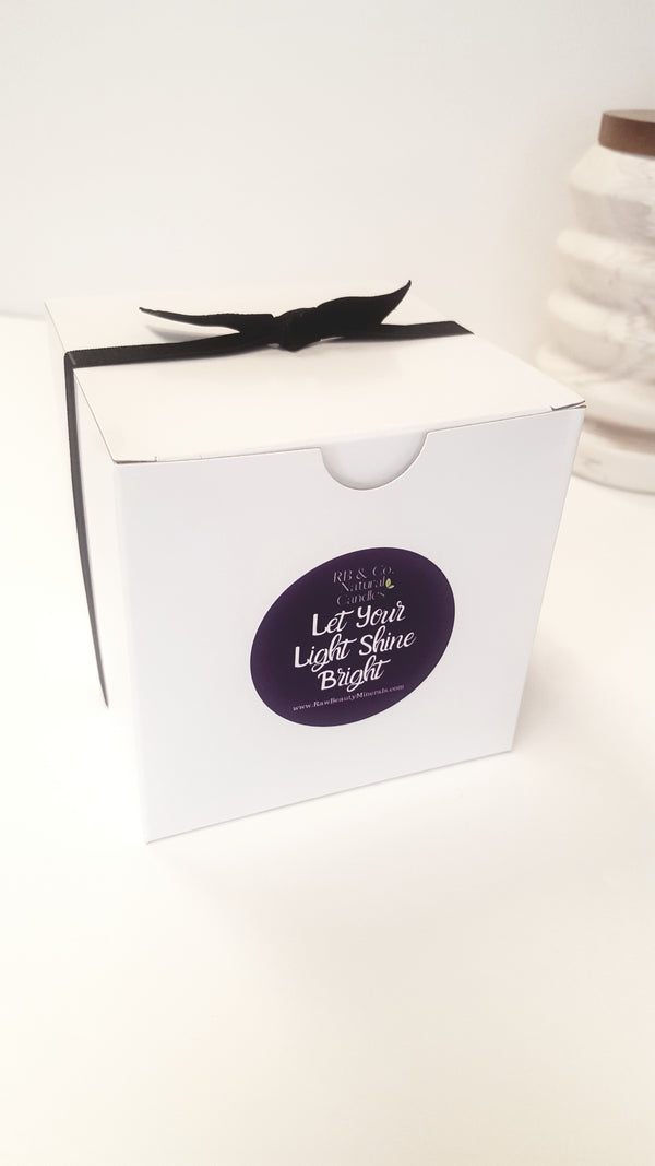 Gift Box with Black Ribbon and Bow