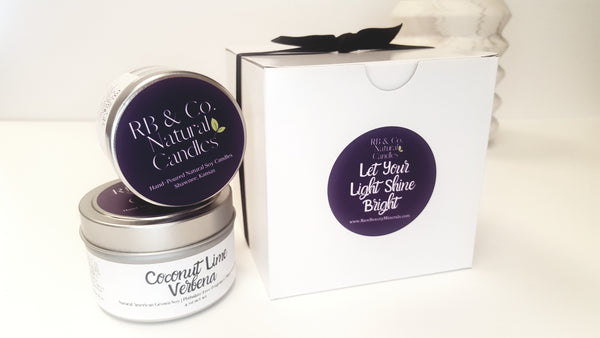 soy candle in gift box dye-free and phtlate-free fragrance