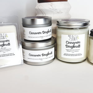 Cinnamon Doughnuts | Natural Soy Candle | Hand-Poured and Hand-crafted