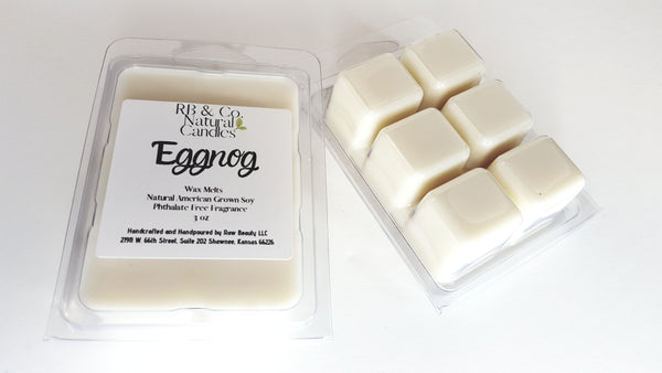 buttercream vanilla eggnog soy candle in 9 oz glass jar soy wax melts eggnog scent