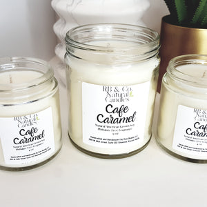 Cafe Caramel | Natural Soy Candle | Hand-Poured and Hand-crafted