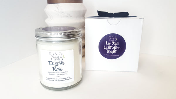 English Rose Scented Natural Soy Candle | Hand-Poured and Hand-crafted