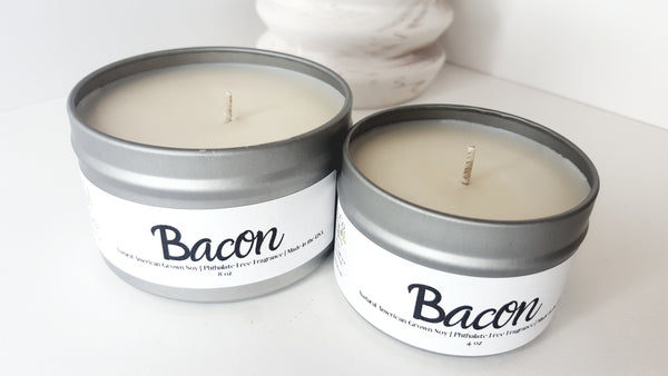 Bacon Scented Natural Soy Candle | Hand-Poured and Hand-crafted