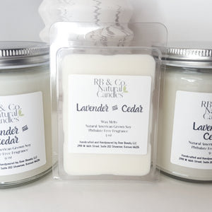 Lavender and Cedar | Natural Soy Candle | Hand-Poured and Hand-crafted