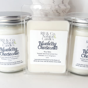 Blueberry Cheesecake Natural Soy Candle | Hand-Poured and Hand-crafted
