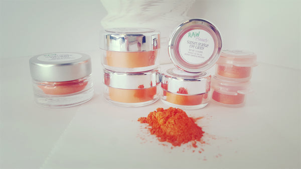 Sunset Orange Loose Eye shadow | Raw Beauty Minerals