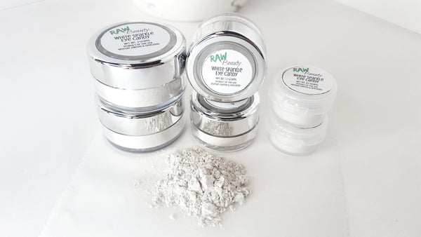 White Sparkle Loose Eye shadow | Raw Beauty Minerals