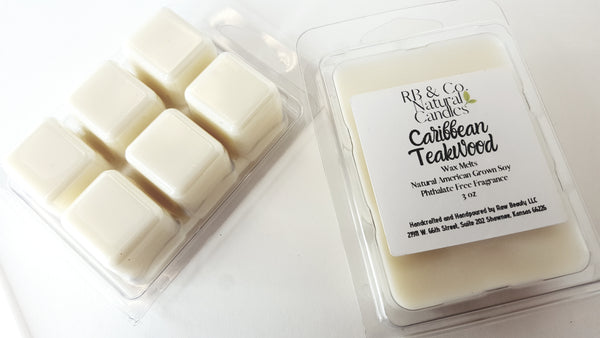 tropical scented candle phthalate-free dye-free wax melts