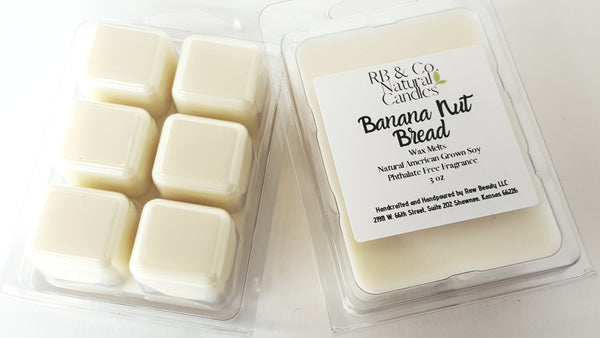 banana nut bread scented wax melts phthalate-free candle dye-free candle