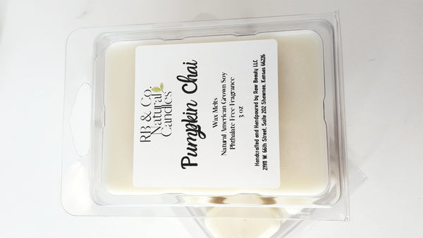 pumpkin scented soy candle wax melts for fall phthalate-free candle dye-free candle
