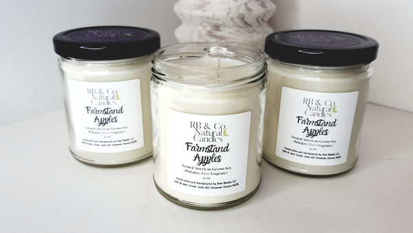 farmstand apple soy candle dye-free candles phthalate-free candle