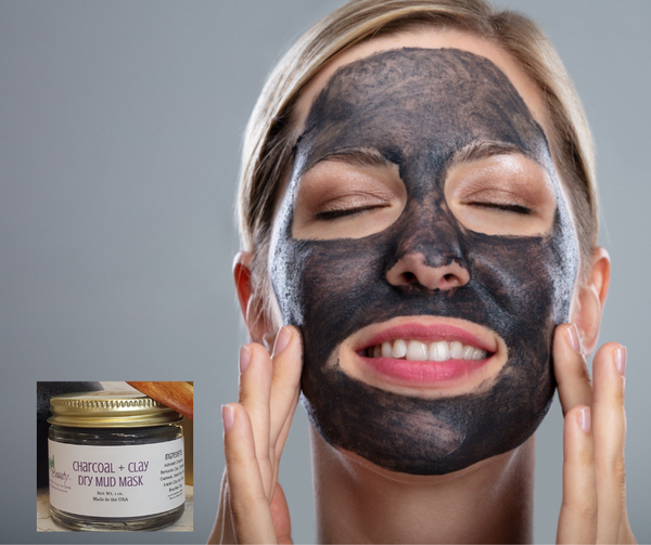 activated charcoal dry mud mask for deep pore cleansing