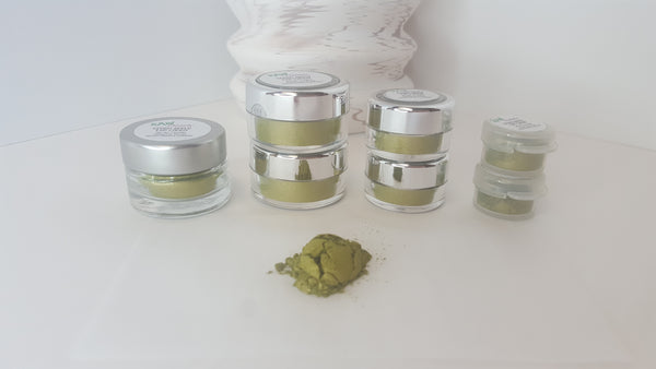 green eye shadow loose pigment powder raw beauty minerals