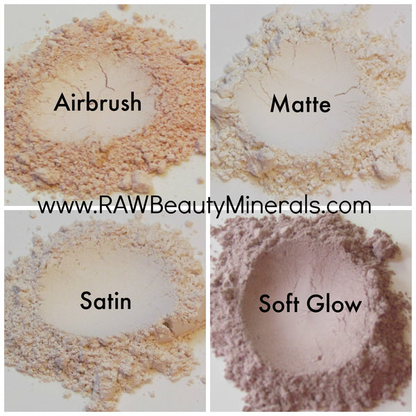 vegan finishing face powder airbrushed look