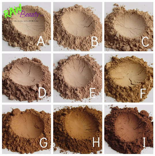all natural makeup vegan face powder natural liquid foundation shade chart by raw beauty minerals