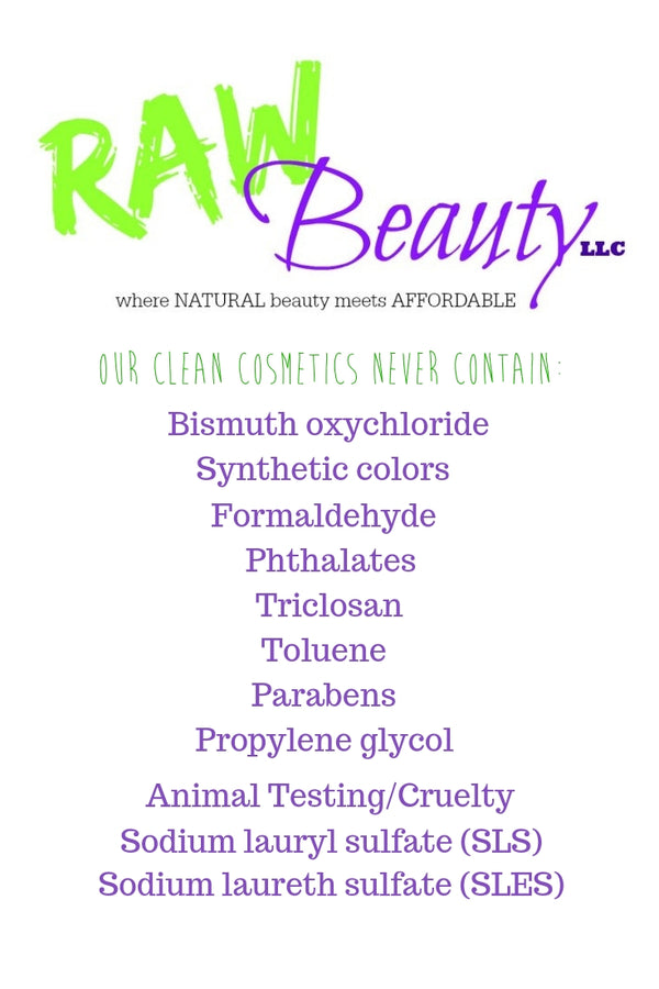 raw beauty pledge of toxic ingredients to never use