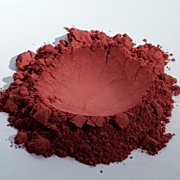 vegan pigmented wine red blush and eye shadow matte