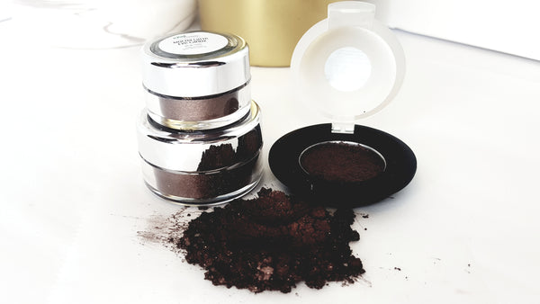 chocolate brown eye pigment mica eye shadow raw beauty minerals