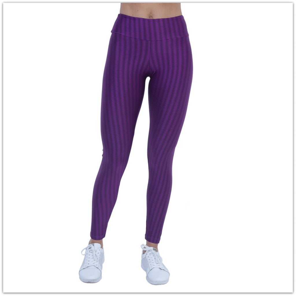Laina Purple Stripe Leggings by Bia Brazil