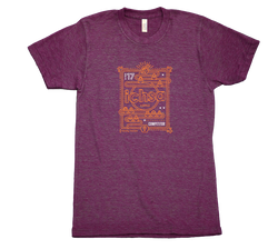 2017 ICHSA Competitor T-Shirt Cranberry