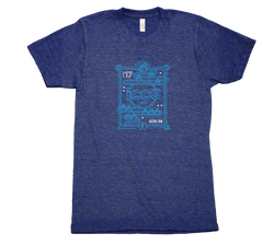 2017 ICCA Ultra Fan T-Shirt Blue