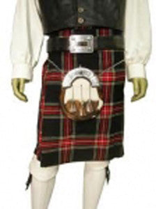 Black Stewart Heavyweight Tartan Kilt