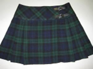 Black Watch Billie Skirt - Ultra Mini