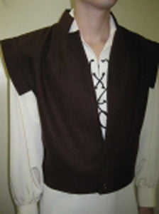 Brown Wool Swordsmens Vest