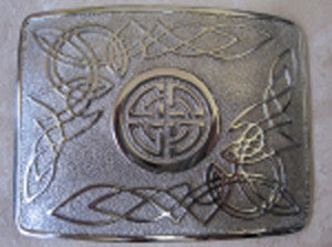 Celtic Circle Belt Buckle (Chrome Finish)