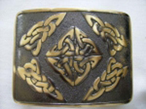 Celtic Square Belt Buckle (Antique Brass Finish)