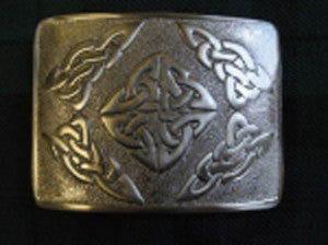 Celtic Square Belt Buckle (Antique Nickel Finish)