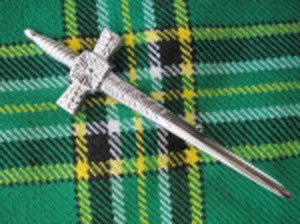 Celtic Sword Kilt Pin (Chrome Finish)