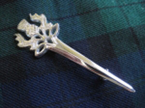 Celtic Thistle Kilt Pin