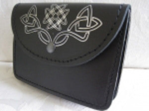 Silver Embossed Celtic Knot Belt Pouch