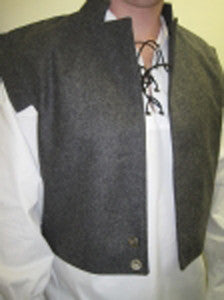 Gray Wool Swordsmens Vest