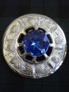 Large Blue Stone Brooch