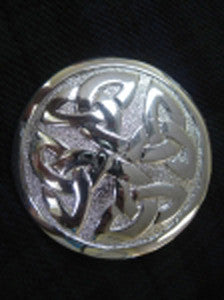 Large Celtic Knot Chrome Finish Brooch