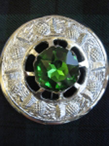 Large Green Stone Brooch