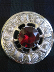 Large Red Stone Brooch