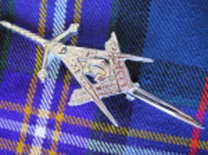 Masonic Kilt Pin (Chrome Finish)