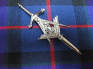 Masonic Kilt Pin (Antique Nickel Finish)