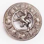 Large Rampant Lion Antique Nickel Brooch