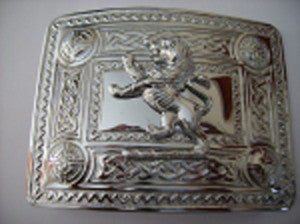 Rampant Lion Buckle (Chrome Finish)